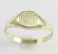 10k Yellow Gold Oval Style Baby Signet Ring (amazing NEW, 1.5 grams) #2082a