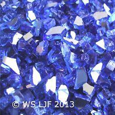 """10 LBS 1/4"""" Cobalt Blue Reflective Fireglass Fireplace Glass Fire Pit Crystals"""