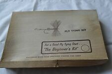 VINTAGE FLY TYING BEGINNER'S KIT Cortland & G.W.Harvey + Manual+ TOOLS (B10)