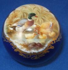 Rare 19thC Meissen Porcelain Duck Scene Scenic Cane Handle Porzellan Stockgriff