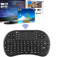 2.4G Wireless Remote Air Keyboard Mouse Qwerty Touchpad For Android TV BOX PC #