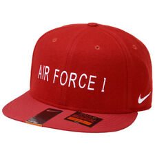 Nike Air Force 1 True Adjustable Hat 745964 687 Red Snap Back