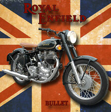 ROYAL ENFIELD BULLET METAL DRINKS COASTER,ENAMELLED FINISH,