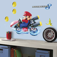 "New 25"" SUPER MARIO KART WALL DECALS Giant Stickers Kids Video Game Room Decor"