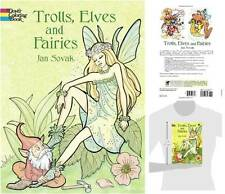 Coloring Book Trolls Elves Fairies Cartoon Dover Painting 29 images Adult Young