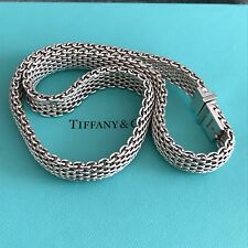 """Tiffany & Co Sterling Silver Somerset Mesh Necklace 17.75"""""""
