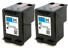 2pk #61 Black Ink Cartridge CH561WN (OLD GEN) for HP Deskjet 3000 3050 3054
