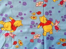 CLEARANCE  FQ DISNEY WINNIE THE POOH  FABRIC PIGLET FLOWERS