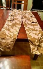 British Army Desert Camo Windproof Combat Trousers Pants BDU DPM 28x32 82/90/96