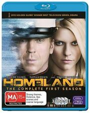 Homeland : Season 1 (Blu-ray, 2012, 3-Disc Set) used
