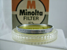 VINTAGE MINOLTA STEEL RIM 67MM Y48 YELLOW CAMERA LENS FILTER (MINT)