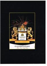 PUBLICITE  1982  CHAMPAGNE cigarettes