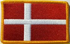 DENMARK Flag Patch With VELCRO® Brand Fastener Military Emblem #09