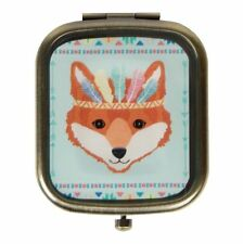 Sass & Belle Retro Animal FOX Plegable Compacto Maquillaje Espejo
