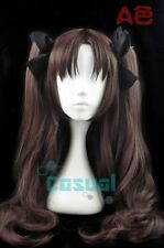 Fate/Stay Night Rin Tohsaka ,Dark Brown, Cosplay Wig