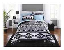 Twin XL College Girl Aztec Black White Southwest Style 6pc Comforter Bedding Set