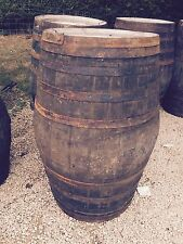 500L Recycled Solid Oak Original Whisky Barrels  - Tubs/Tables/Garden/Bar