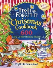 Fix-it and Forget-it Christmas Cookbook: 600 Slow Cooker Holiday Recip-ExLibrary