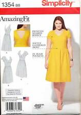 SIMPLICITY SEWING PATTERN 1354 WOMENS SZ 20W-28W AMAZING FIT DRESS - PLUS SIZES