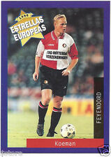 Rare '96 Panini Holland's EUROPEAN SUPER STAR Ronal Koeman with FEYNOORD