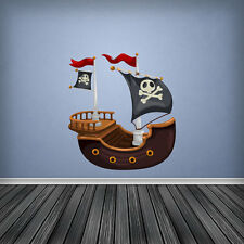 Pirateship Pirate Ship Wall Art Sticker Decal Decor Boys Bedroom Vinyl Graphic