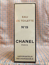 Vintage 1980s Chanel No 19 Eau de Toilette 1.7 oz 50 ml Refillable - OLD FORMULA