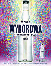PUBLICITE ADVERTISING  2005   WODKA  WYBOROWA  le renouveau de L'EST