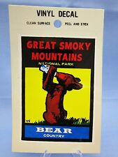 "Vintage "" GREAT SMOKY MOUNTAINS NATIONAL PARK "" STICKER / DECAL (NEW OLD STOCK)"
