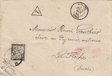 Lettre France Timbre Taxe 30cts Bourges Cher Cover Brief