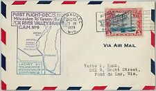 60127 - USA -  First Flight COVER: MILWAKEE - GREEN BAY - AMC: 9 W8