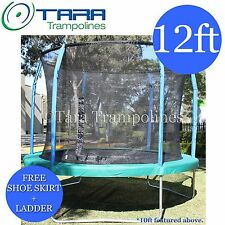 12 foot Trampoline with FREE SHOE SKIRT FREE Ladder Safety Net Mat Pads Springs