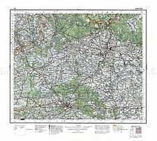 MAP 1929 POLISH MILITARY Bialystok AREA POLAND REPLICA POSTER PRINT PAM0465