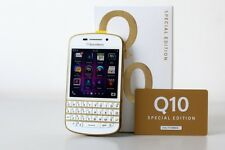 "NEWYEAR DEAL- Imported BlackBerry Q10 16GB 2GB 3.1"" 8MP 2MP White Gold Edition"