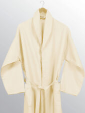 EGYPTIAN HOUSE COLLECTION 100% COTTON WAFFLE BATHROBE ADULT BATH ROBE OFF WHITE