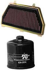 K&N Motorcycle Air Filter + Oil Filter Combo HA-6007 + KN-204