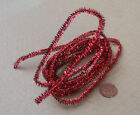 1:12 Red Tinsel Christmas Decoration Dolls House Miniature Xmas Accessory