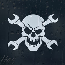 Skull Cross Wrench Car Decal Vinyl Sticker