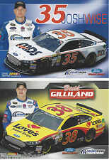 "2013 JOSH WISE ""MDS"" / DAVID GILLILAND ""LOVE TRAVEL SHOPS"" NASCAR POSTCARD"