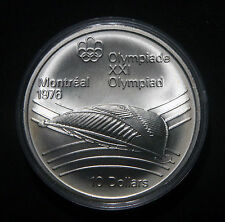 1976 CANADA $10 OLYMPICS STERLING COMMEMORATIVE COIN  !! VELODROME !! 140949