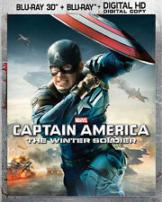 Captain America: The Winter Soldier (3D + 2D Blu-ray + Digital HD Copy 2014) NEW