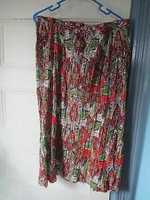 CHARTER CLUB PXL New~skirt 100% CRINKLE COTTON Autumn Colorway NEW stretch waist