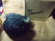VINTAGE FEATHERED LADIES HAT SOLD BY FRANCIS LEAMINGTON SPA OSTRICH DYED  BOXED