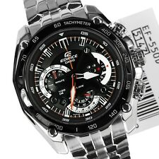 Casio  Edifice Men's Wristwatch  - EF-550-1AVDF BLACK DIAL CHRONOGRAPH