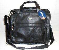 """New Targus Leather Corporate Traveler W/ Air Protection 15"""" Briefcase CUCT01UAL"""