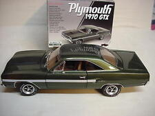 GTX  IVY GREEN METALLIC 426 HEMI V-8 1970 AIR GRABBER HOOD NEW PLYM GMP 1-18
