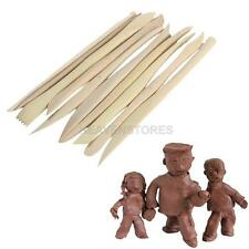 10PCS Wooden Clay Sculpture knife Pottery Sharpen Modeling Tools Set NE#4