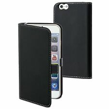 Apple iPhone 6 Plus (5.5) - Housse Etui Folio Slim à Clapet Noir - Muvit