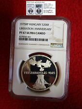Hungary 1975 BP Liberation NGC PCGS ICG ANACS coin PF67  Silver Proof 200 POP 1