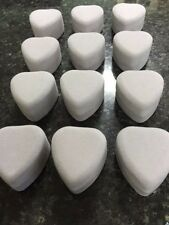 WHOLESALE JOBLOT 48 GREY VELVET HEART RING BOXES, JEWELLERY BOXES, PACKAGING,