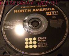 Toyota GPS Navigation DVD Map original disc U91 D
